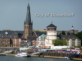 Düsseldorf – Old town with castle tower