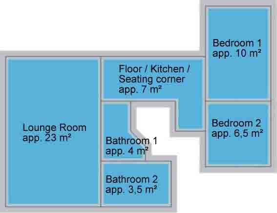 Guest house Düsseldorf – Apartment – Layout