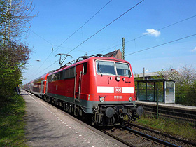 Meerbusch – Train RE 07 to Cologne